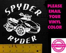CAN-AM SPYDER  RS SPYDER RYDER - WINDOW DECAL / STICKER  - 13 colors