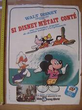 affiche cinema 1973 SI DISNEY M'ETAIT CONTE le monde magique de Disney World