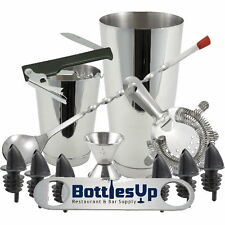 13 Piece Bartending kit Stainless Steel