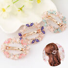 Fashion Women Crystal Rhinestone Flower Butterfly Barrette Hair Clip Hairpins