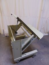 """Pneumatic Air Tilt Steel Work Platform Table 36"""" x 30"""" 45 Degree Tip"""