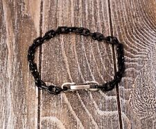 Bracelet With Black Titanium 9in. New listing David Yurman Chain Link Narrow