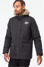 Hype Men's Winter Black Parka Coat