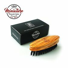 1541 London Travel Sized Moustache & Beard Brush (Olive Wood) with Pure Bristle