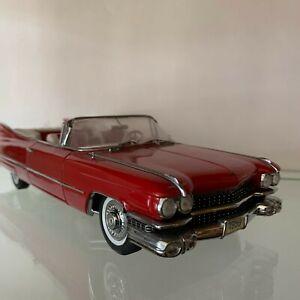 Danbury Mint ~ 1959 Cadillac Series 62 ~ 1:24 Scale Red Convertible No Box