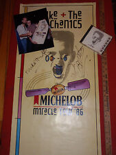 VINTAGE SIGNED MIKE + THE MECHANICS POSTER PHOTO CD MICHELOB MIRACLE TOUR 1986