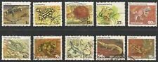 1982 - 1983 Australia, Reptiles, set of 10 FU stamps