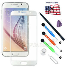 For Samsung Galaxy S6 i9200 White Touch Screen Front Glass Replacement Tools Kit