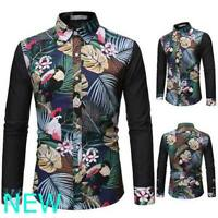 Stylish Top Mens Long Sleeve Casual Blouse Luxury Slim Fit Dress Shirts Shirt