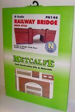 Metcalfe PN146 Card - Railway Bridge, Brick Style (N Gauge) Railway Model
