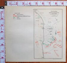 BOER WAR ERA MAP/BATTLE PLAN ENSLIN GRASPAN NOV 25 1899 BRITISH INFANTRY LANCERS