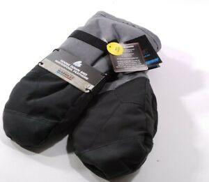 Gordini Men's Standard Aquabloc Down Gauntlet Mitten , Black/ Gunmetal Large