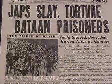Vintage Journal Titres & ~ Guerre Mondiale Japon Bataan Soldat Mort Marche