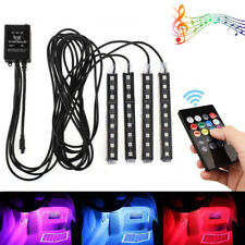 4x9 LED RGB Car Interior Atmosphere Footwell Strip Light Decor Cigarette Charger