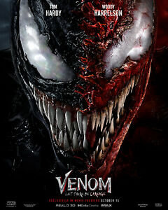 NEW Venom Let There Be Carnage, DECAL Poster Spider-Man Movie Film 2021 rePrint