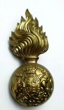 More details for victorian royal scots fusiliers fur cap badge - 2 lugs to rear