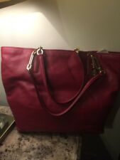 COACH L Red Scarlet Leather shoulder BAG TOTE SHOPPER PURSE HANDBAG NWT 18 26225