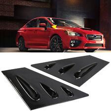 Window Scoop Louver Cover Trim Accessories Glossy Black For Subaru WRX STi 15-19