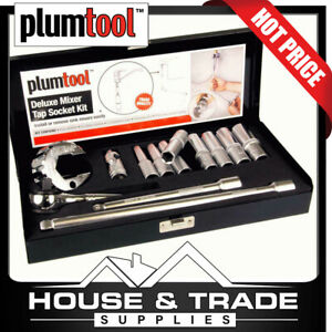 Plumtool Mixer Tap Socket Set Deluxe with Palm Wrench 9885 PTMT487