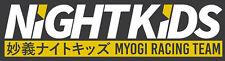 Night Kids Myogi Racing Team Bumper Window Vinyl Slap Decal Sticker Initial D