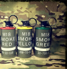 3 Colors CQB ABS M18 Smoke Grenade Dummy Tactical Model Storage Tank Set Props