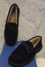 Men's Rockport Moccasin Suede Indoor/Outdoor Slippers Black Size 13 NW/Box