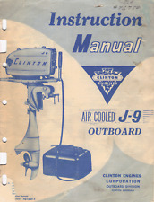 clinton J9 manual + PARTS LIST cd ,parts in my store