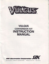SNK VULGUS CONVERSION KIT VIDEO ARCADE GAME SERVICE MANUAL 1984