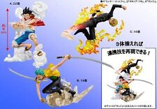 BANPRESTO Figure Gashapon One Piece Super Effect Diorama ZORO RUBBER LUFFY SANJI