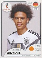 446 LEROY SANE GERMANY MANCHESTER CITY.FC STICKER WORLD CUP RUSSIA 2018 PANINI