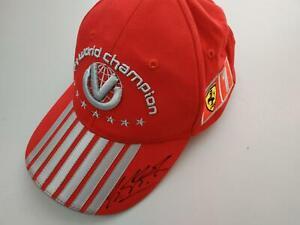MICHAEL SCHUMACHER SIGNED 2004  FERRARI F1 WC SEVEN TIMES CAP rare