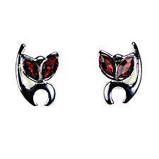 ALIEN KITTY EARRINGS Post Stud Pair Cat Stainless Steel NEW Gift Jewelry Red Eye