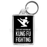 Kung Fu Fighting Keyring Funny Joke Gift Key Fob Keychain | Medium Size