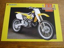 SUZUKI RM 250 & 125 MOTORBIKE BROCHURE, 1998,  POST FREE (UK)