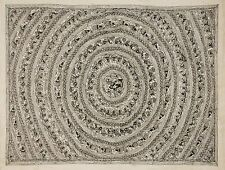 Madhubani Folk Art Black & White Painting Bihar Tribal India Tattoo art 22x30 in