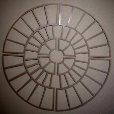 Small Brick Circle Concrete Driveway Stencils for Patios, Decks, Brick, Stone