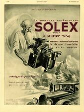 """CARBURATEUR SOLEX"" Annonce originale entoilée L'ILLUSTRATION 28/11/31  (LUPA)"