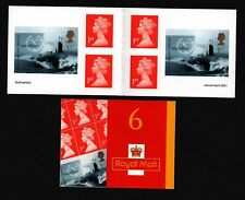 GB 2001 Submarine barcode booklet SG PM2 VGC 1st class stamps s/a