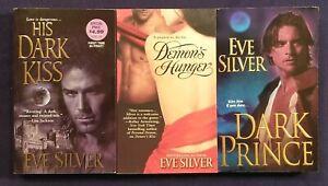 3 EVE SILVER Romance Books PARANORMAL + Historical GOTHIC Dark Prince + Demon