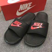 Nike * Benassi JDI Black and Challenger Red Slides Slippers for Men