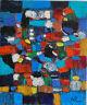 ALEXANDRE PONS/Abstrait contemporain pièce unique format 55x46 cm