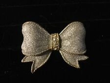 Pretty Shimmery Bow Pin Brooch