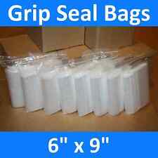More details for grip seal bags self resealable clear polythene poly plastic zip lock *all sizes*