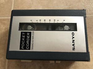 Rare Working SANYO MC-2 Reel To Reel Pocket Tape recorder + original case