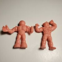 "Mattel 1980s M.U.S.C.L.E. Men Flesh Color 1.75"" Tall Figure Lot Of 2"