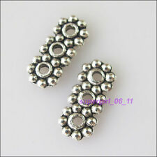 18Pcs Tibetan Silver 3Holes Bar Spacer Beads Charms Connectors 5.5x13mm