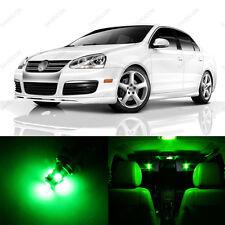 9 x Green LED Interior Light Package For 2005 - 2010 VW Jetta MK5