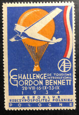 Mint Poland Aeroclub Label Gordon Bennett Challenge 1934