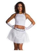 Womens Star Wars Stormtrooper White Glitter Tutu Halloween Cosplay Costume Skirt