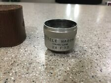 Vintage Tele Hagon 2X F:35 Coated Lens With Leather case